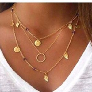 Jewelry - ✨3 for $20 MultiLayer boho chain pendant necklace